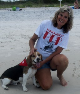 Huck and his mom at the beach