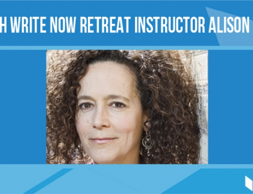 Q&A with Write Now Retreat instructor Alison Wearing